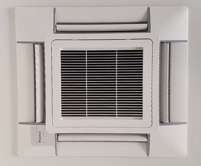Mini Split AC Installation - Ceiling Mounted