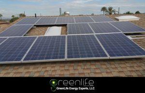 Residential Solar Panels Installed On Roof Near Phoenix, Arizona