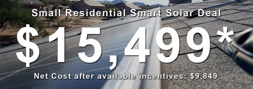 Small Residential Solar Deal Phoenix AZ