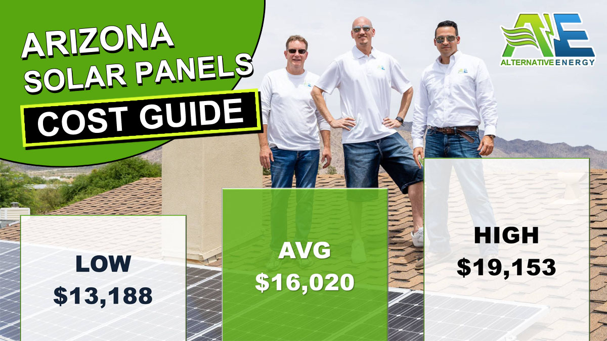 Arizona Solar Panels Cost Graph Infographic