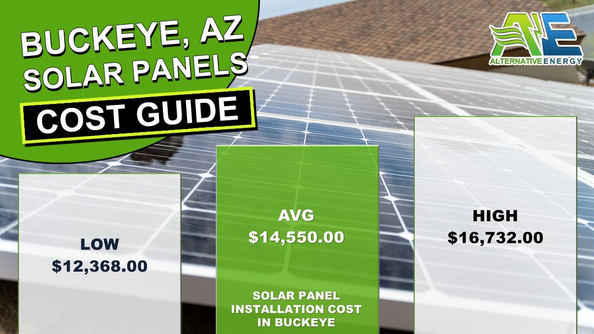 Buckeye Solar Panels Cost Graph Inforgraphic