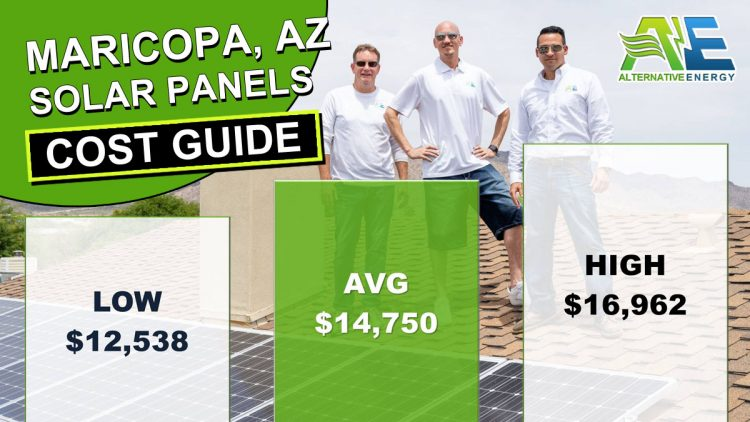 Maricopa County, AZ Solar Panels Cost Graph Infographic