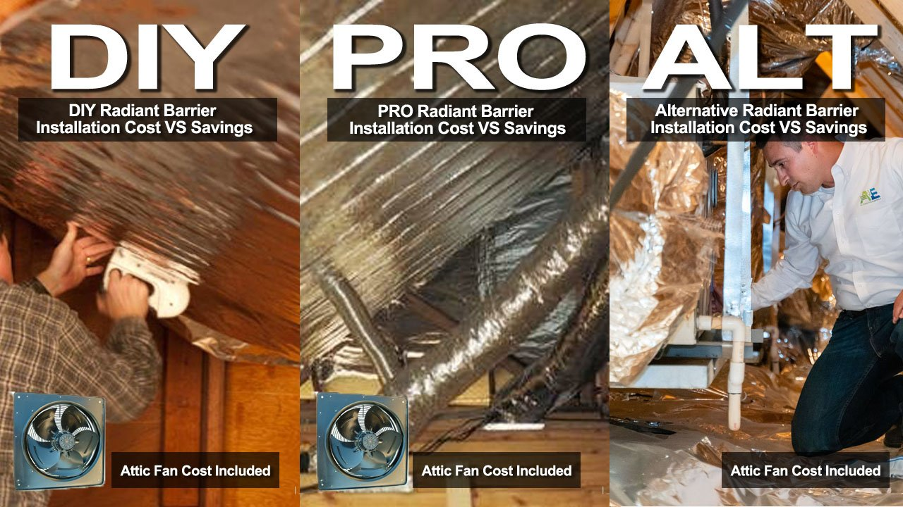 Radiant Barrier Costs Vs Savings Comparison Diy Pro Other