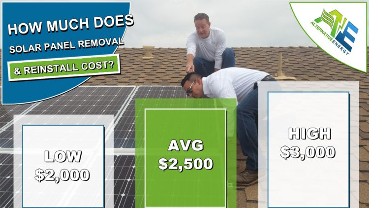 Cost to Remove Solar Panels to Replace Roof