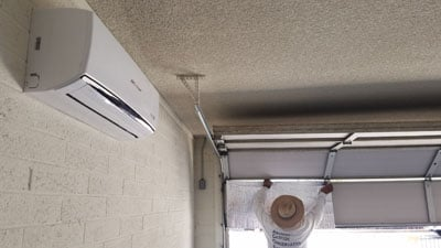 Install a garage mini split ac unit