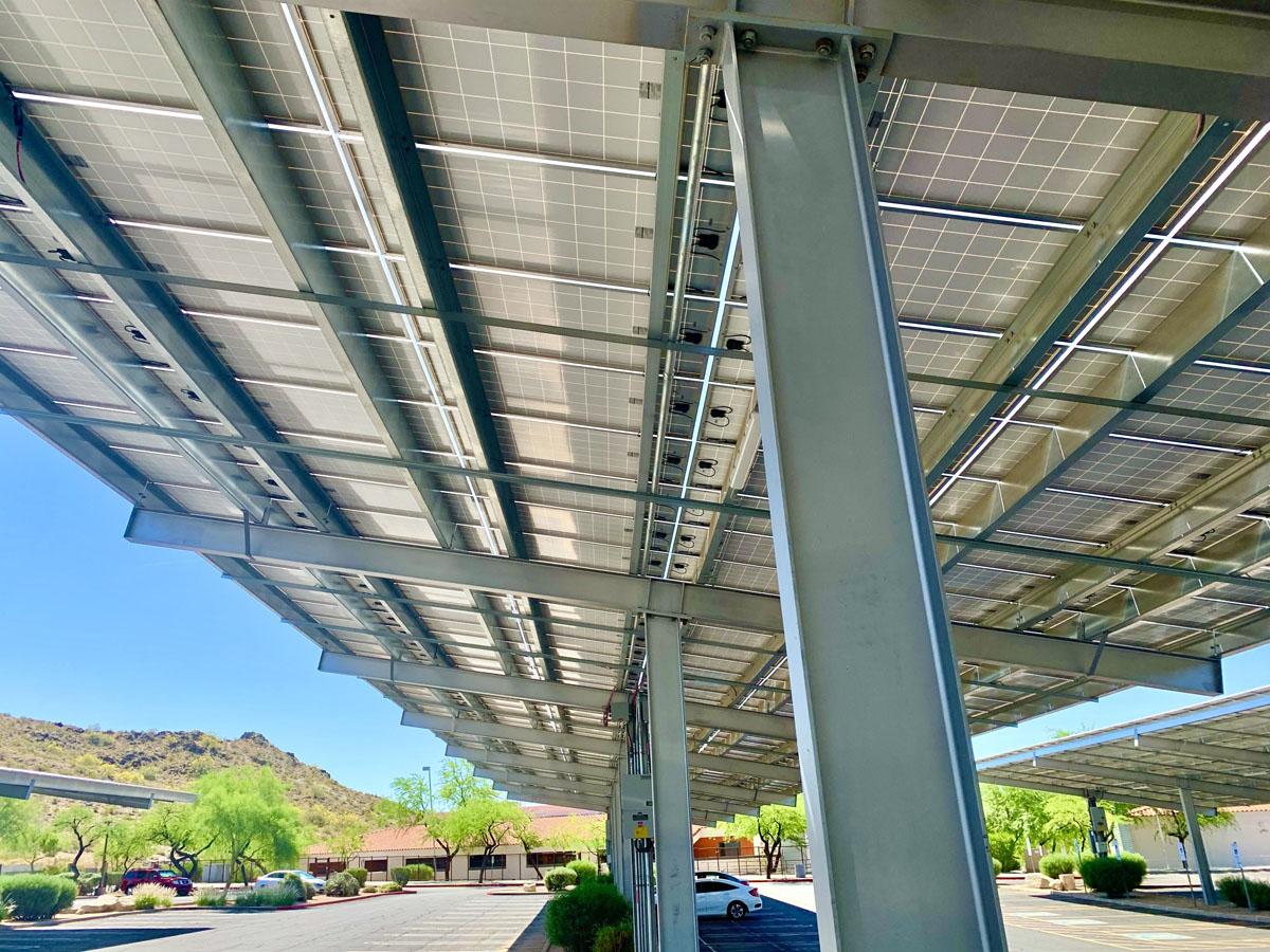 Solar Panel Parking Canopy